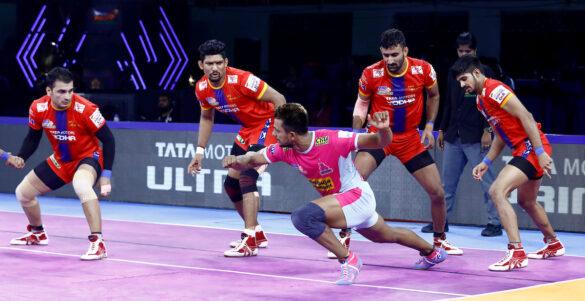 Vivo Pro Kabaddi Season-7: UP Warrior's 31-24 win over No. 1 team Jaipur Pink Panthers in 50th match