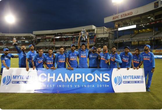 IND VS WI- भारतीय टीम के सीरीज जीतने के बाद ट्वीटर पर छाए कप्तान विराट कोहली, गेल को भी मिली चर्चा 1