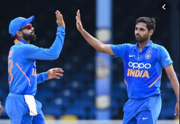IND VS WI- विराट कोहली के शतक और भुवनेश्वर कुमार की घातक गेंदबाजी से भारत ने दूसरे वनडे में वेस्टइंडीज को 59 रन से हराया 13