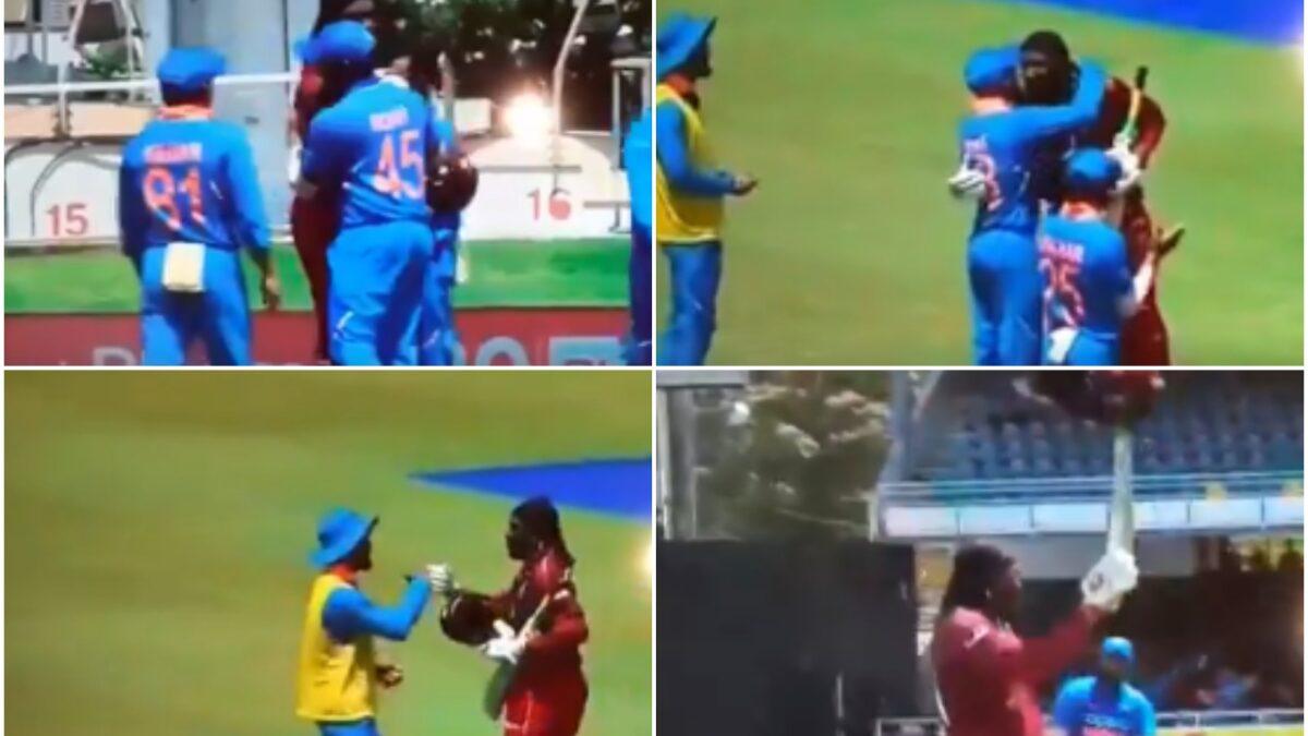 WATCH: भारतीय खिलाड़ियों ने क्रिस गेल को आउट होने के बाद ऐसे दी विदाई, संन्यास की अटकलें तेज तेज