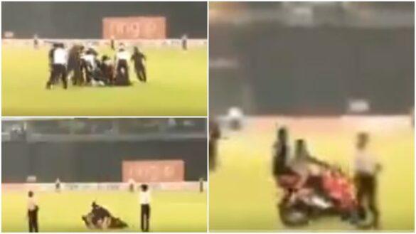 WATCH: श्रीलंका टीम की जीत के बाद जश्न मनाने के दौरान बाइक से गिरे कुसल मेंडिस, बाल- बाल बची जान 19