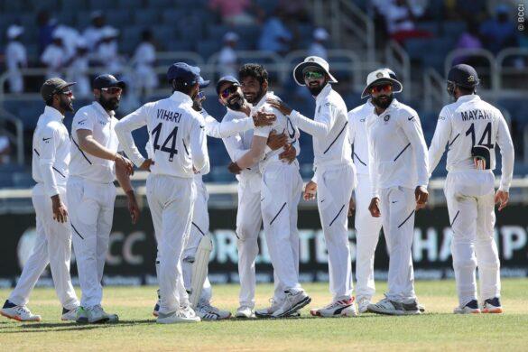 WIvIND, जमैका टेस्ट: जसप्रीत बुमराह की हैट्रिक ने तोड़ी विंडीज बल्लेबाजी की कमर, 87 रनों पर गिरे 7 विकेट 48