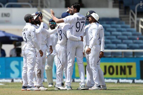 WIvIND, जमैका टेस्ट: 299 रनों की बढत के बावजूद भारत ने नहीं दिया फॉलोऑन, दूसरी पारी में खराब शुरुआत 13