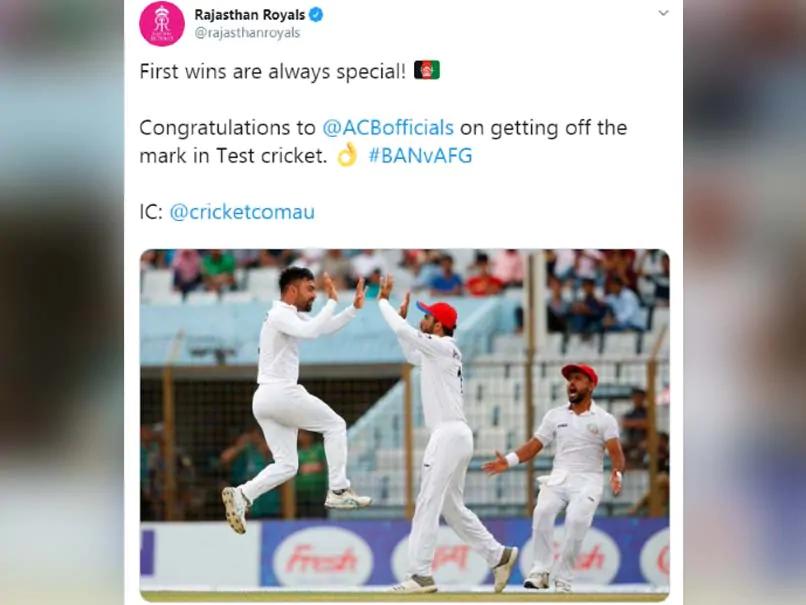 अफगानिस्तान को बांग्लादेश पर जीत की बधाई देने के चक्कर में राजस्थान रॉयल्स से हुई बड़ी चूक, हो गया ट्रोल 3