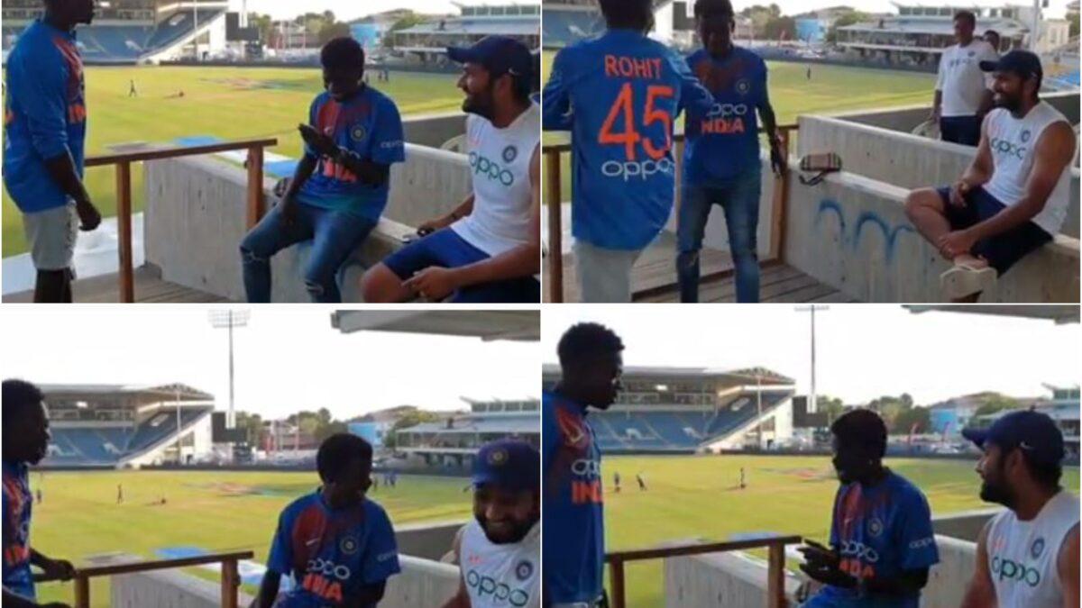 WATCH: वेस्टइंडीज में सीरीज जीतने के बाद फैंस के साथ मौज मस्ती करते दिखे रोहित शर्मा