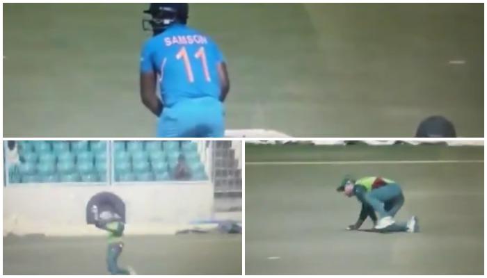 WATCH : जानेमन मलान के एक हाथ के इस अद्भुत कैच ने संजू सैमसन की पारी का किया अंत