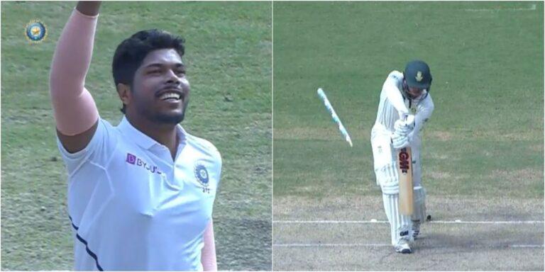 उमेश यादव ने डाली इस साल की सर्वश्रेष्ठ गेंद दूर जा गिरा क्विंटन डी कॉक का विकेट, देखें वीडियो