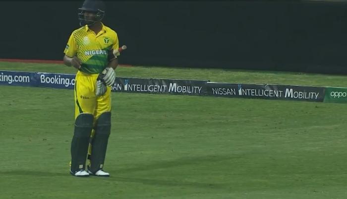 टी-20 विश्व कप क्वालीफायर: बल्लेबाजी छोड़कर मैदान से बाहर भागा बल्लेबाज, देखें वीडियो 2