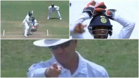 भारतीय टीम के अपील नहीं करने पर भी नाइजल लॉन्ग ने मुथुस्वामी को दिया आउट, देखें वीडियो 19