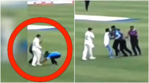 VIDEO: रांची टेस्ट में क्विंटन डी कॉक का पैर छूने मैदान में घुसा फैन, फिर हुआ कुछ ऐसा 19