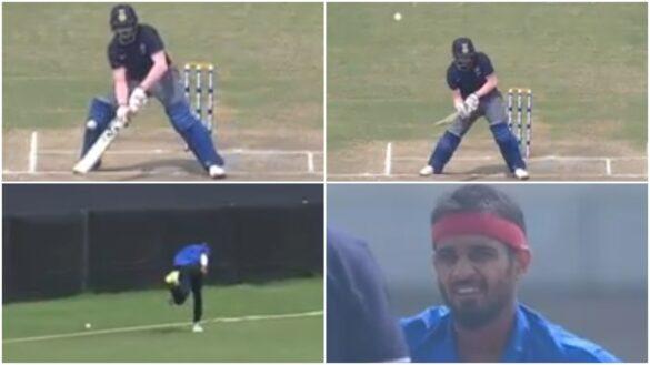 कृष्णप्पा गौतम ने थर्ड मैन पर स्कूप से जड़ा छक्का, गेंदबाज को नहीं हुआ विश्वास 3