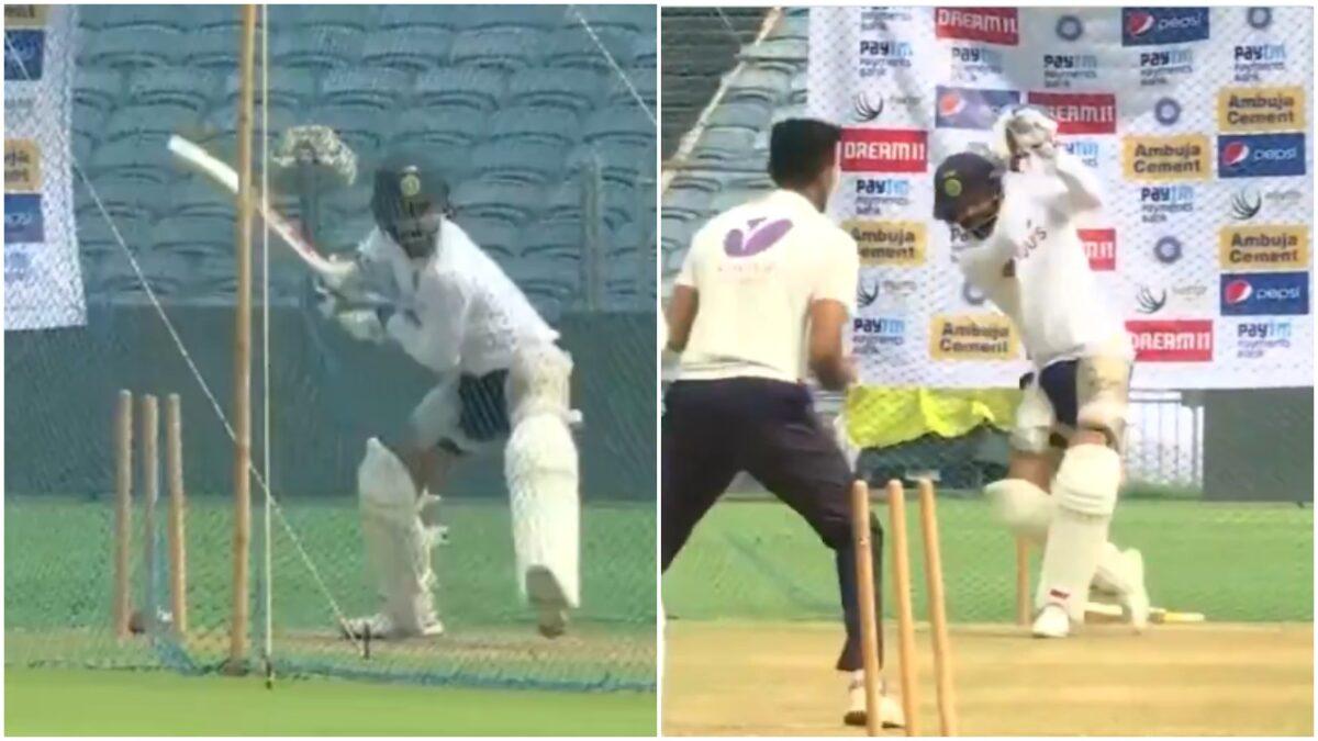 विराट कोहली ने नेट्स पर गेंदबाजी की जमकर धुनाई की, देखें वीडियो