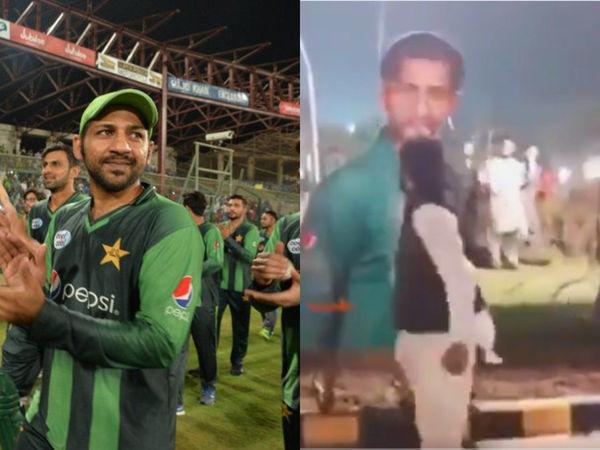 3-0 से टी-20 सीरीज हारने के बाद नाराज पाकिस्तानी प्रशंसक ने सरफराज अहमद के पुतले पर निकाला गुस्सा