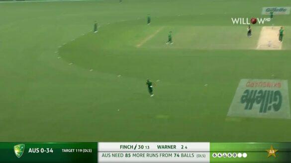 मैच रद्द होने से पहले एरोन फिंच ने 7 फीट के मोहम्मद इरफ़ान की कर डाली पिटाई, 7 गेंद पर बने 26 रन 17
