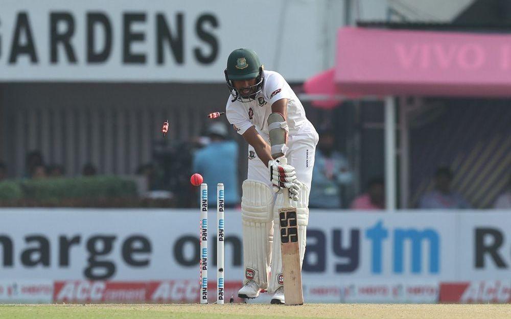 INDvBAN, दूसरा टेस्ट: 106 पर सिमटी बांग्लादेश की पारी, भारत को भी शुरुआती झटका 1