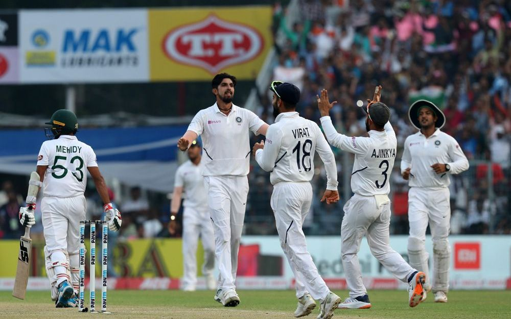 INDvBAN, दूसरा टेस्ट: 106 पर सिमटी बांग्लादेश की पारी, भारत को भी शुरुआती झटका 2