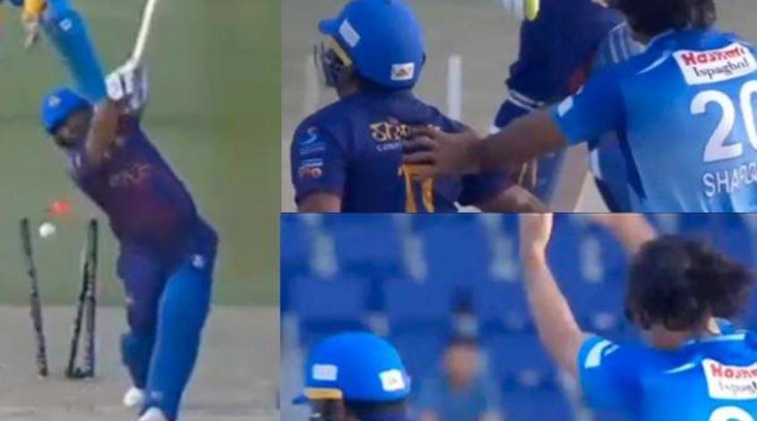 टी 10 लीग में गुस्से में गेंदबाज ने मोहम्मद शहजाद के साथ की शर्मनाक हरकत, देखें वीडियो