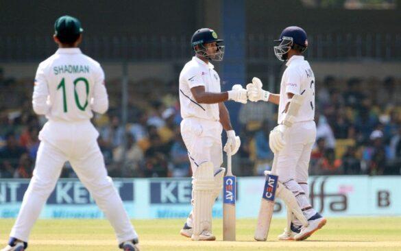INDvBAN, पहले टेस्ट: भारतीय टीम दूसरे दिन चाय तक 300 के पार 15