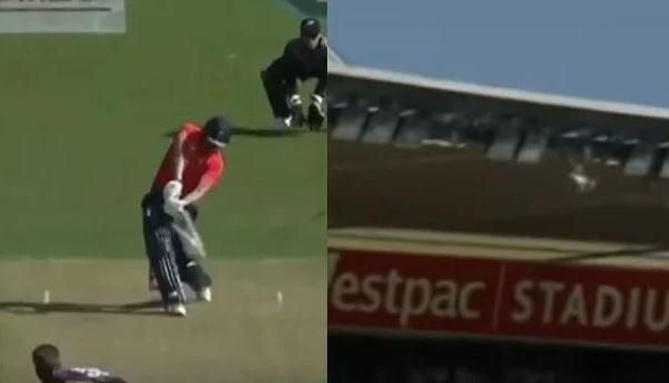 ENGvsNZ: डेविड मलान ने मारा ऐसा छक्का, स्टेडियम के बाहर चली गयी गेंद, देखें VIDEO