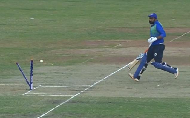 राहुल तेवतिया रन आउट होने के बाद अपने ही टीम के खिलाड़ी से भिड़े, देखें वीडियो 1