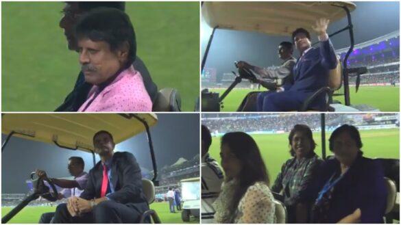 भारतीय क्रिकेट के बड़े दिग्गजों ने ईडन गार्डन्स में दर्शकों का अभिवादन स्वीकार किया, देखें वीडियो 3