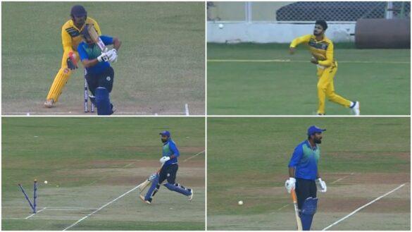 राहुल तेवतिया रन आउट होने के बाद अपने ही टीम के खिलाड़ी से भिड़े, देखें वीडियो 9