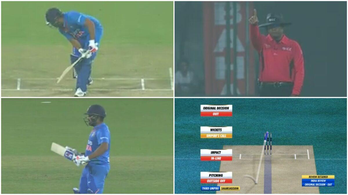 INDvBAN: विराट कोहली का रिकॉर्ड तोड़ पहले ही ओवर में आउट हुए रोहित शर्मा, देखें वीडियो