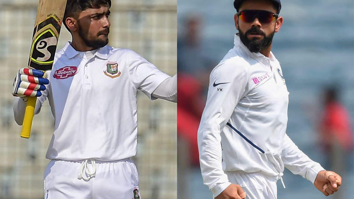 भारत बनाम बांग्लादेश: नए कप्तान मोमिनल हक ने भारतीय कप्तान विराट कोहली को दी टेस्ट से पहले ये चुनौती