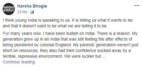 ऑस्ट्रेलियन पत्रकार ने CAA के मुद्दे पर किया भारत विरोधी कमेन्ट, हर्षा भोगले ने दिया करारा जवाब 2