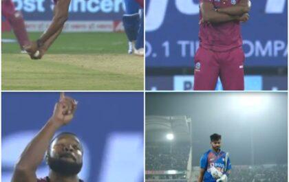 IND vs WI: देखने को मिला कीरोन पोलार्ड का आईपीएल वाला रूप, हवा में गोते लगाते हुए लपका कैच 1
