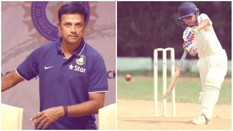 आईपीएल नीलामी के बीच राहुल द्रविड़ के बेटे ने मैदान पर मचाया तहलका, लगाया दोहरा शतक