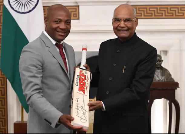 वेस्टइंडीज के महान क्रिकेटर रहे ब्रायन लारा ने की भारत के राष्ट्रपति रामनाथ कोविंद के साथ मुलाकात