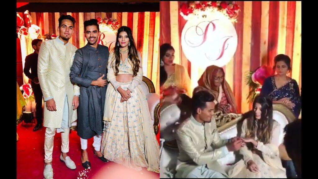 अपनी गर्लफ्रेंड के साथ राहुल चाहर ने रचाई सगाई, सामने आई वीडियो और तस्वीरें 1