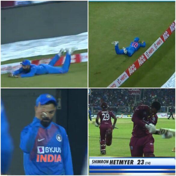 IND vs WI- हार के बाद भी विराट कोहली के इस हैरतअंगेज कैच ने बटोरी सुर्खियां, देखे वीडियो 29