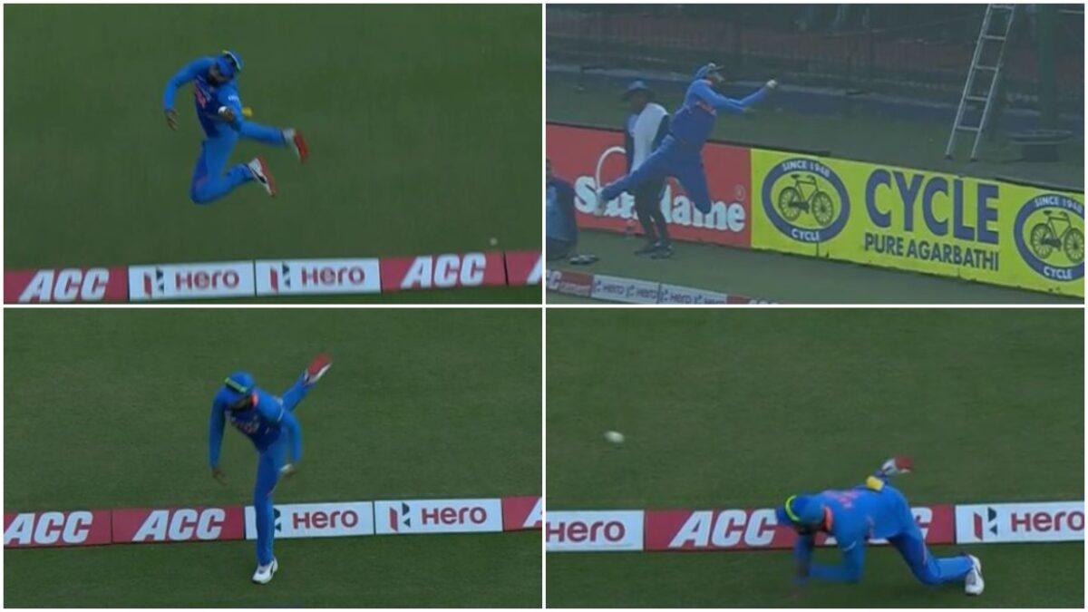 वीडियो : सुपरमैन की तरह हवा में उछल, केएल राहुल ने की बाउंड्री बचाने की कोशिश
