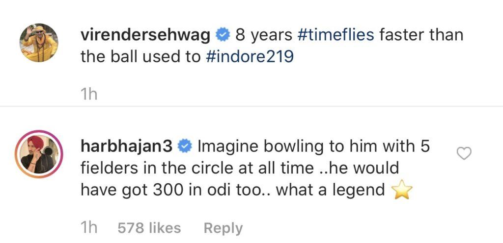 हरभजन सिंह के अनुसार वीरेंद्र सहवाग वनडे क्रिकेट में बना सकते थे तिहरा शतक 3