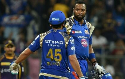 उनकी कप्तानी में वेस्टइंडीज अलग टीम हो जाती है, अपने आईपीएल साथी कीरोन पोलार्ड के बारे में रोहित शर्मा 4