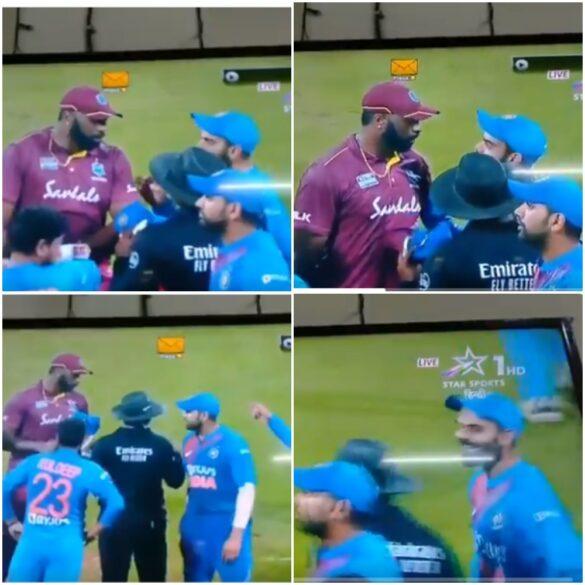 IND vs WI- मुंबई में तीसरे मैच के दौरान विराट कोहली और कीरोन पोलार्ड के बीच हुई नोंकझोंक, देखे वीडियो 31