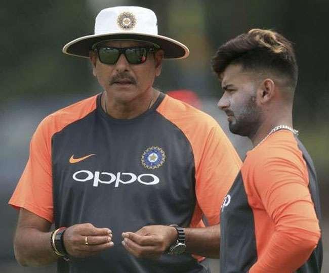 टेस्ट मैच से पहले नेट्स में ऋषभ पंत को सलाह देते नजर आए मुख्य कोच रवि शास्त्री, देखें वीडियो