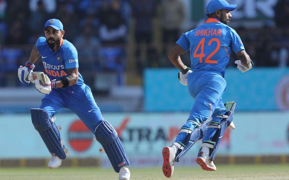 भारतीय टीम ने राजकोट में बनाया बड़ा स्कोर, सोशल मीडिया पर हुई धवन और राहुल की तारीफ