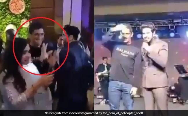 VIDEO : अरमान मलिक के गाने पर पत्नी साक्षी के बाँहों में बाहें डाले दिखे महेंद्र सिंह धोनी