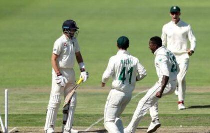 इंग्लैंड की पहली पारी के 499 रन के जवाब पर, साउथ अफ्रीका 208/6 रन 29