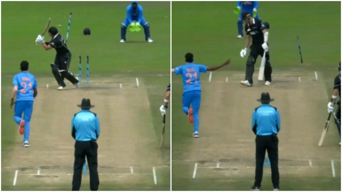 मोहम्मद सिराज ने न्यूज़ीलैंड के खिलाफ एक बार नहीं बल्कि 2-2 बार हवा में उखाड़ फेंका स्टंप, देखें वीडियो