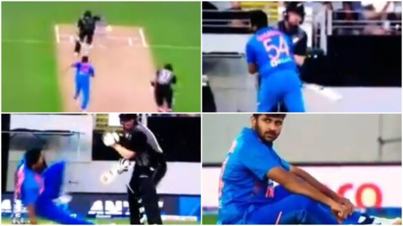 दूसरे टी20 मैच के दौरान कॉलिन मुनरो और शार्दुल ठाकुर में जबरदस्त टक्कर, देखें वीडियो 2