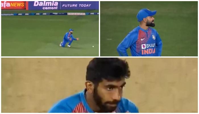वीडियो : विराट कोहली से दूसरे टी-20 में छुटा बेहद आसान कैच, देखने लायक थी जसप्रीत बुमराह की प्रतिक्रिया
