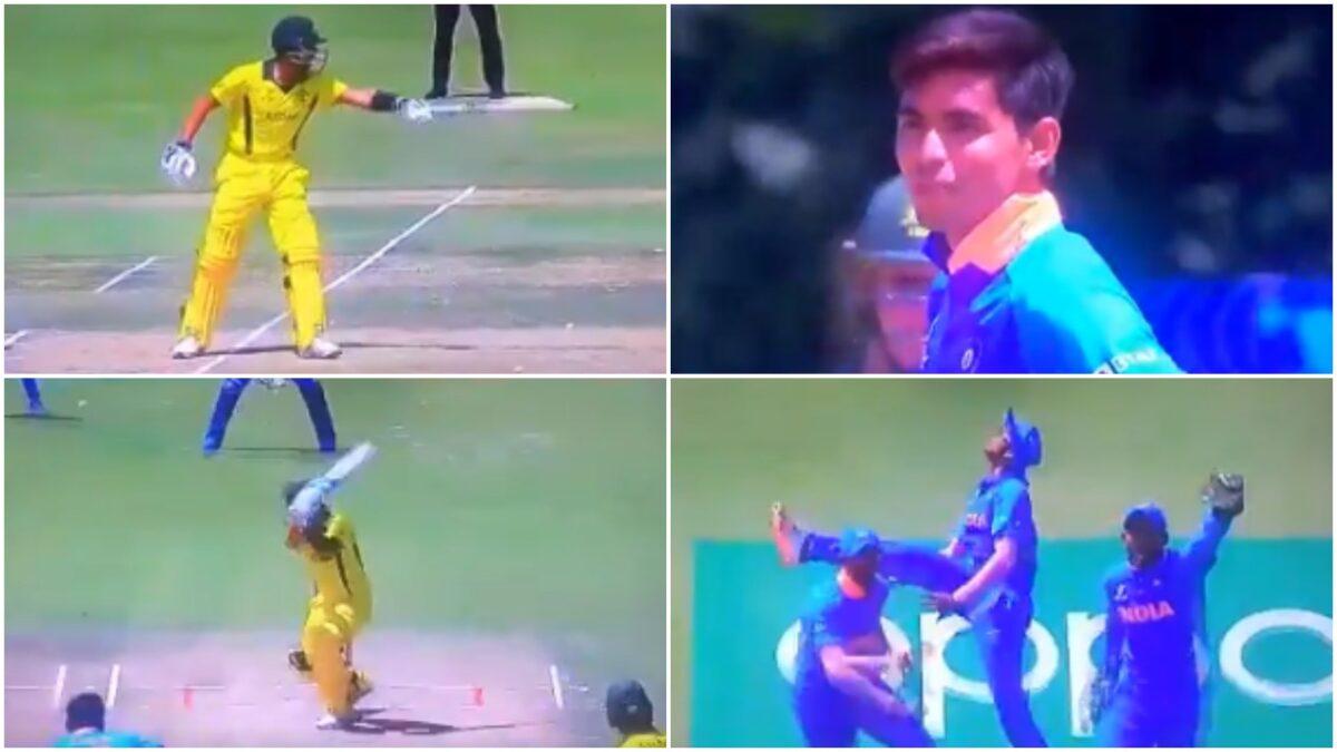 अंडर-19 विश्व कप: ऑस्ट्रेलिया के बल्लेबाज ने कार्तिक त्यागी को स्लेज करने की कोशिश की, गेंदबाज ने अगली गेंद पर भेजा पवेलियन