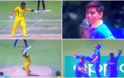 अंडर-19 विश्व कप: ऑस्ट्रेलिया के बल्लेबाज ने कार्तिक त्यागी को स्लेज करने की कोशिश की, गेंदबाज ने अगली गेंद पर भेजा पवेलियन 1
