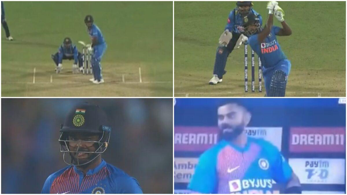 5 साल बाद टीम में आते ही संजू सैमसन ने जड़ा पहली ही गेंद पर छक्का, देखने लायक था विराट कोहली का रिएक्शन