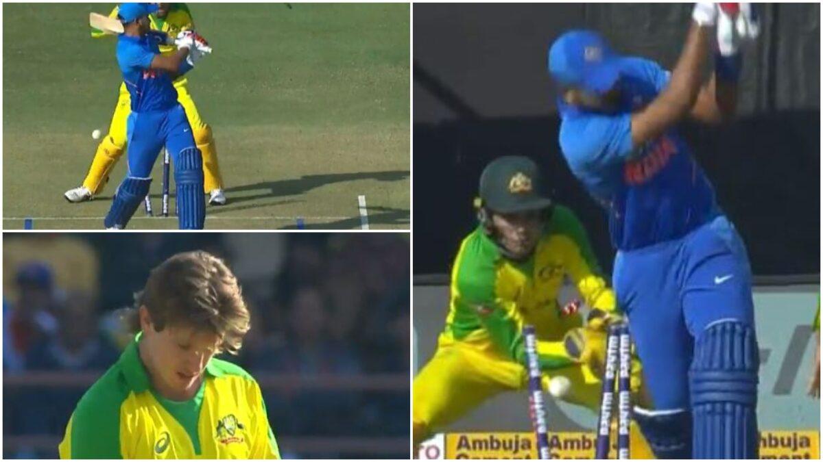 एडम जम्पा ने शानदार गेंद पर श्रेयस अय्यर को किया बोल्ड, यहाँ देखें वीडियो