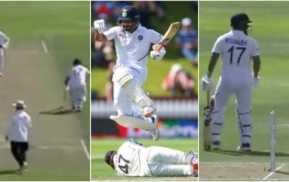 NZ vs IND: पहली पारी में रन आउट होने के बाद अजिंक्य रहाणे पर गुस्सा होते नजर आये ऋषभ पन्त, देखे वीडियो 4